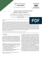 a b - Hydrodynamics of a Capillary Membrane Biorector
