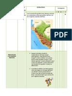 Secion de Aprendizaje de Las Regiones Naturales Del Peru
