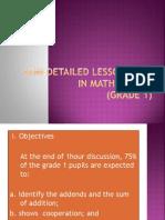 Semi Detailed Lesson Plan in Mathematics