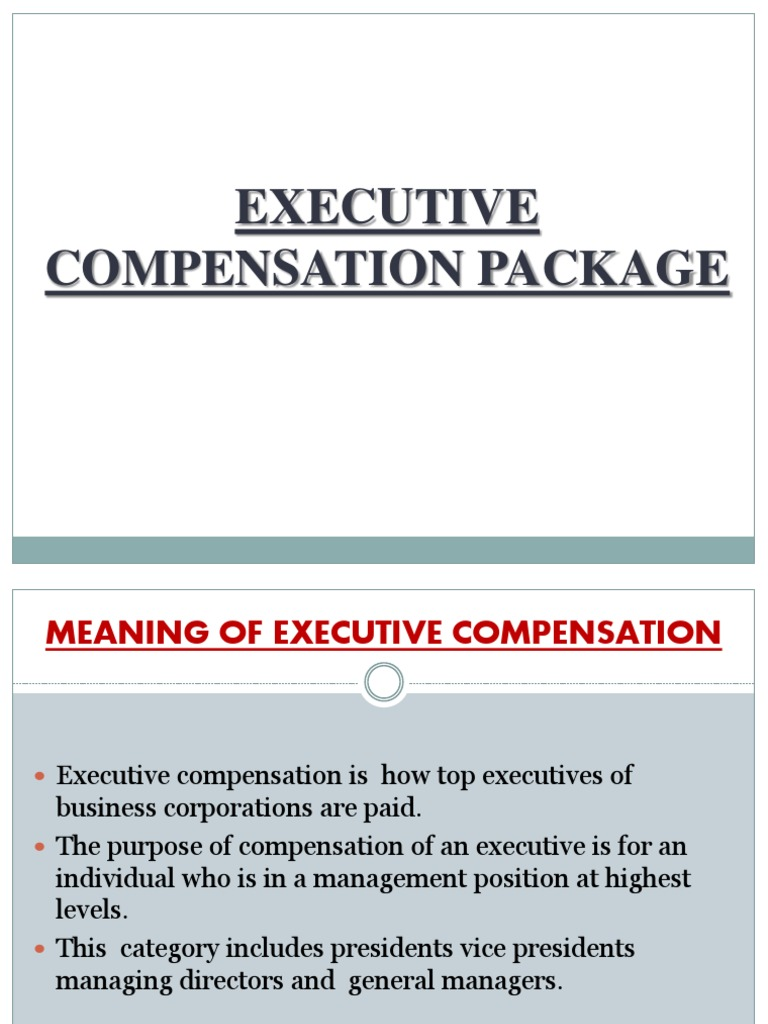 Compensation plan what is the meaning