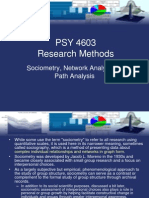 Sociometry Analysis of Networks & Path Analysis - Research Methods (Psychology)