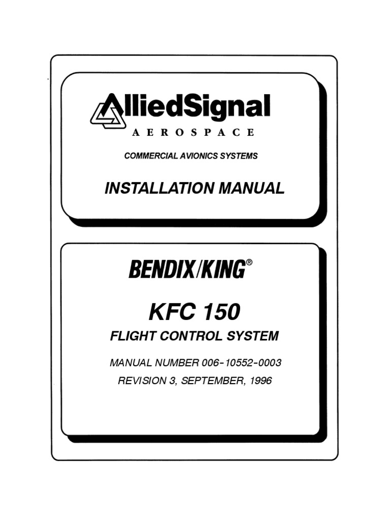 KFC-150 - 006-10552-0003_3 | Flight Dynamics (Fixed Wing Aircraft) |  Reliability Engineering