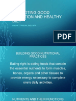 Promoting Good Nutrition and Healthy Diet