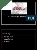training and devlopment of united sugar mill
