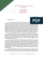 Letter from Richard Gaillardetz to CTSA