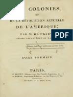 Pradt - Des colonies et de la révolution actuelle de l'Amérique t. 1