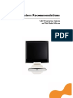 System Recommendations T X Series and Tobii Studio