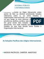 DIREITO INTERNACIONAL PÚBLICO CONTROVÉRSIAS INTERNACIONAIS