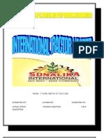 Sonalika Report on Cis Countries