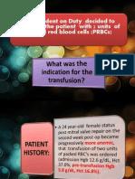 Transfusion Reactions Joy