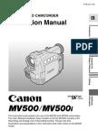Cannon MV500i DV Camera Manual
