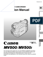 Cannon MV500i DV Camera Manual