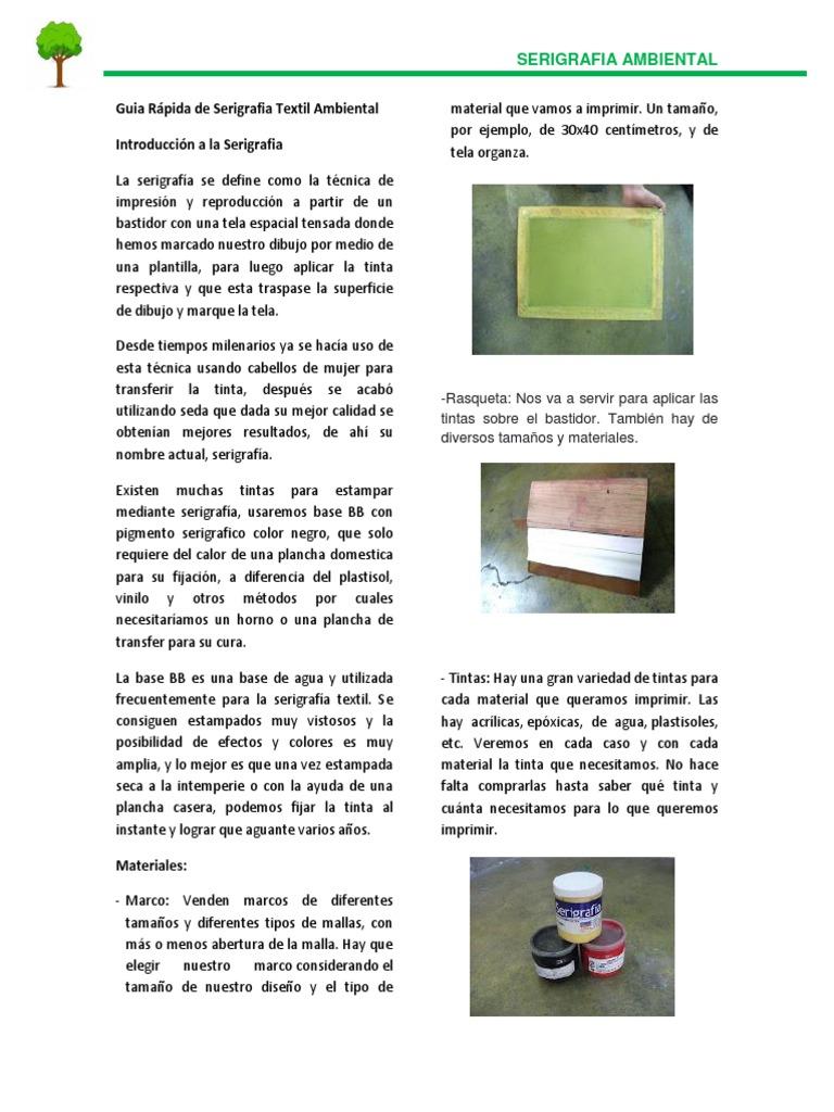 Guia Rápida de Serigrafia Textil Ambiental (1)