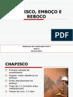 CHAPISCO, EMBOÇO E REBOCO.ppt