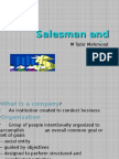 Salesman and Success in organization