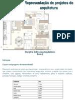 Representação de projetos de arquitetura