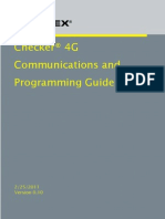 Guide de  Communications et Programmation du Checker 4G