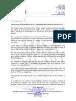 Concerns on Sanjika Palace News Conference