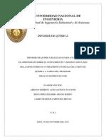 Informe de Estequiometria