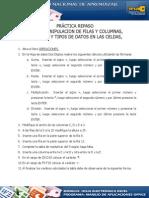 Practica 4 Excel Manipulacion de Filas y Columnas Semana 5