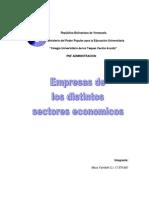 Sector Primario, Secundario y Terciario.