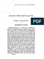 Cuestiones Tusculanas, Cicerón, Libro I