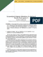 LARRAURI, Elena- Paradojas de Importar Alternativas a La Carcel