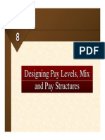 designing pay levels mix and pay structures