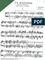 Brahms Cortot Rapsodia 1