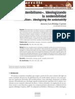 8.«Sostenibilismo».Ideologizando la sostenibilidad.Hidalgo capitan