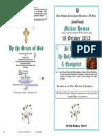2013 - 18 Oct - St Luke the Apostle & Evangelist