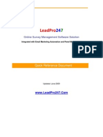 Online Surveys Quick Reference Guide from LeadPro247 Service