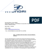 Hyundai Motor India _hmil_ Interview Call Letter