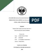 (PTE) Analisis Kegagalan Handover(Saat Peralihan Frekuensi) Pada Sistem (CDMA)