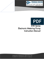 Walchem Pump EHE Series Manual, EHE31, EHE36, EHE46, EHE56