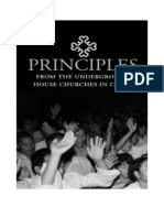 Principles from the Underground House Churches in China