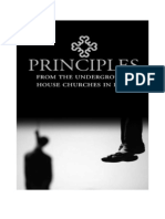 Principles from the Underground House Churches in Iran