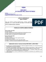 Normas NCh 409 Calidad y Muestreo Del Agua Potable EEO