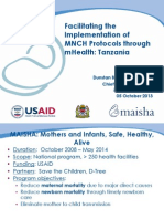 Facilitating the Implementation of MNCH Protocols through mHealth