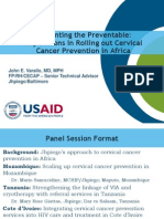 Preventing the Preventable: Key Lessons in Rolling out Cervical Cancer Prevention in Africa Powerpoint