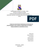 Projeto de Intervenção - Gestão e Políticas Públicas
