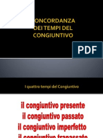 CONCORDANZA CONGIUNTIVO