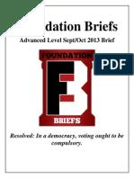 Foundation Briefs compulsory voting