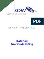 Dataflex Error Listing