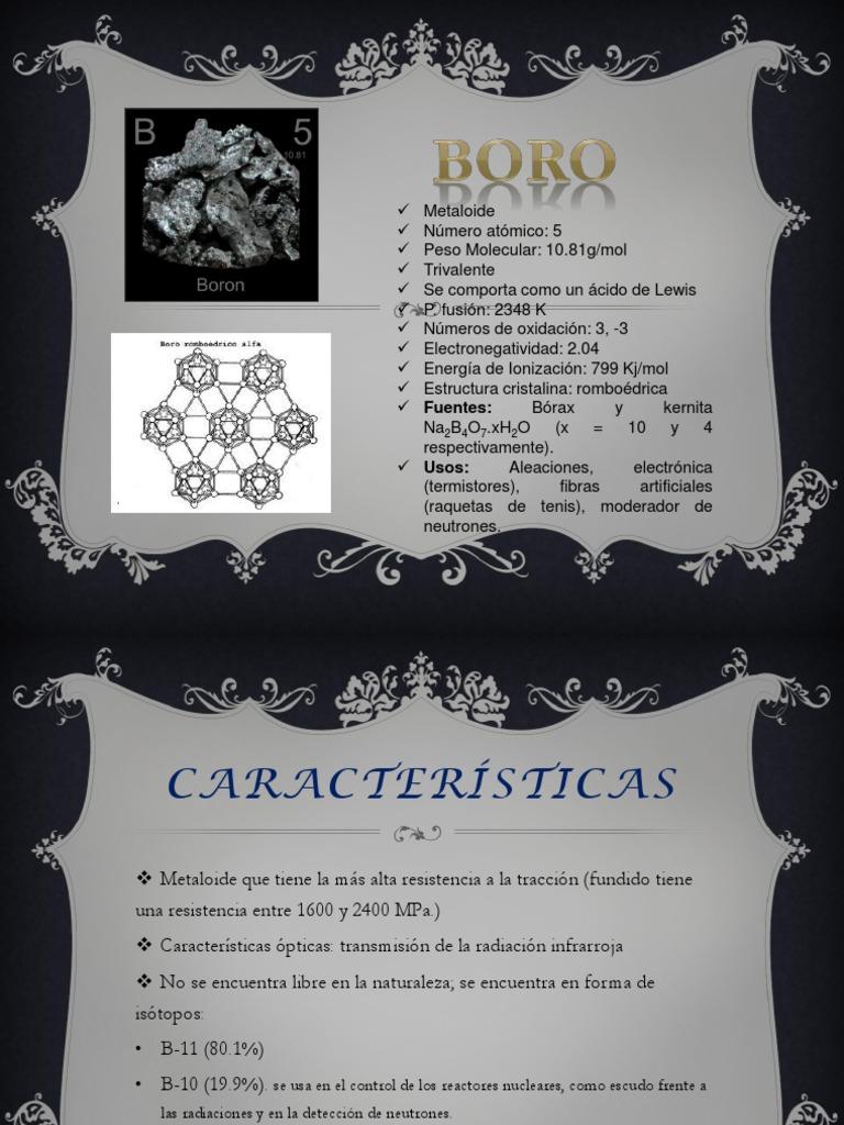 Presentación1 Pptx Reacciones Pptx Boro Química