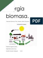 Energía biomasa Tarea quimica 2