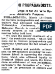 Death to Propaganda  - old newspaper clipping