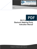 Walchem Pump EW-F Series Manual, EWB, EWC