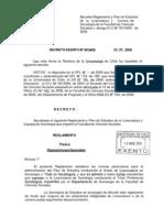 Reglamento Carrera Sociología 2008