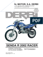 Manual Despiece Derbi Senda R 1999-2000